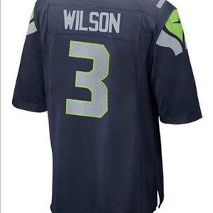 Nike Seahawks Wilson #3 NFL Youth On-Field Jersey